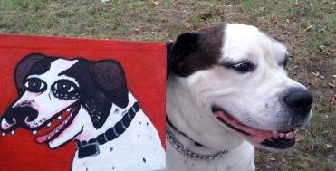 """Lansky and portrait. """"Lansky"""" acrylic on canvas"""