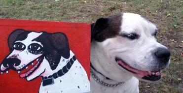 "Lansky and portrait. ""Lansky"" acrylic on canvas"
