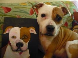 "Sassy and portrait. ""Sassy"" acrylic on Canvas"