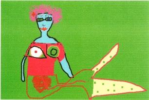 """Mermaid"" computer drawing"