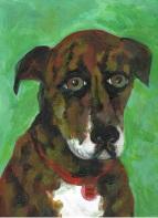 """""""Hank"""" acrylic on canvas"""