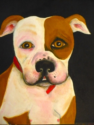 """Sassy"" acrylic on canvas"