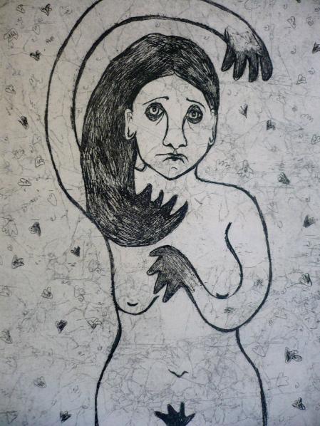 """Nude"" metal print"