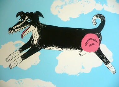 """Flying Dog"" silkscreen"
